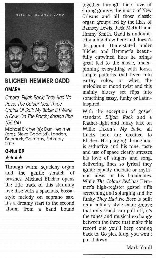 "4-star ""Omara"" review - Jazz Journal 2018"